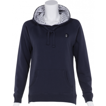 Petite Affair Petite Blue Top with Dotty Lined Hood