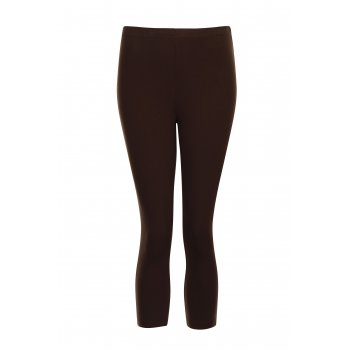 Petite Affair Petite Espresso Cotton Crop Leggings