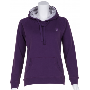 Petite Affair Petite Purple Top with Dotty Lined Hood