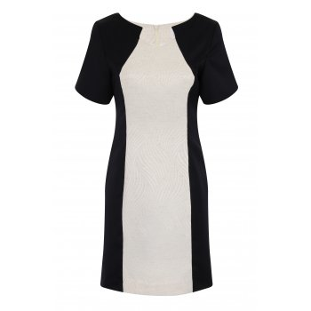 Short Couture Petite Colour Block Wave Dress