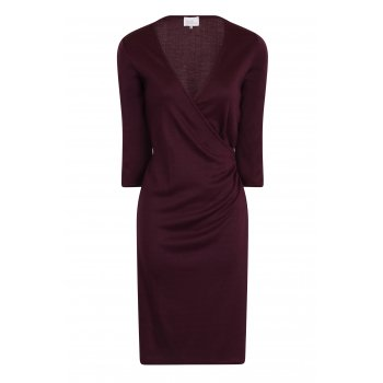 Short Couture Petite Purple Wrap Dress
