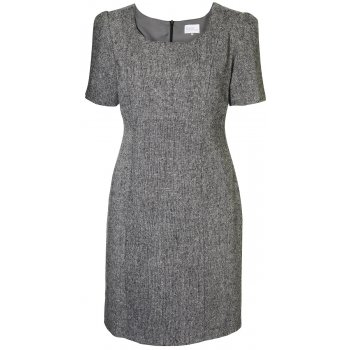 Short Couture Petite Tweed Shift Dress